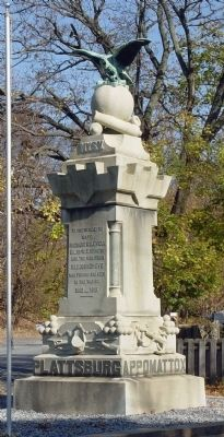 Blooming Grove War Monument Marker, west & south faces image. Click for full size.