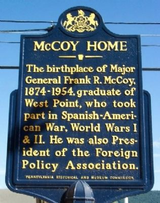 McCoy Home Marker image. Click for full size.