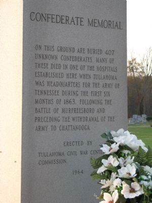 Confederate Cemetery Memorial image. Click for full size.