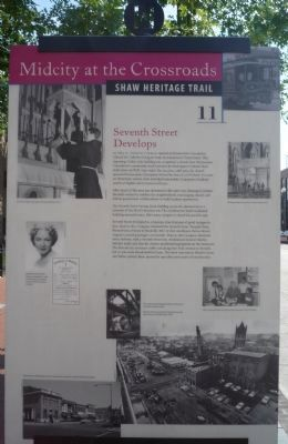 Seventh Street Develops Marker image. Click for full size.