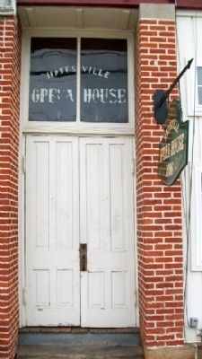 Hayesville Opera House Entrance image. Click for full size.