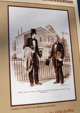 Close-up Photo - - Illustration of : ' Abraham Lincoln -&- Clifton H. Moore ' Photo, Click for full size