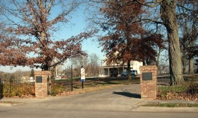 Friends To The End Marker -&- Entrance to DeWitt County Museum Photo, Click for full size
