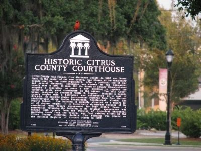 Historic Citrus County Courthouse Marker image. Click for full size.