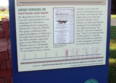 Bottom Section - - On The Campaign Trail Marker image. Click for full size.