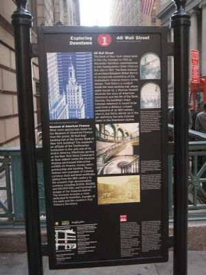 48 Wall Street Marker image. Click for full size.