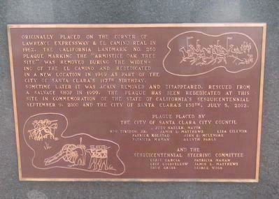 Rededication Plaque Mounted on the Left Side of Marker Base Photo, Click for full size