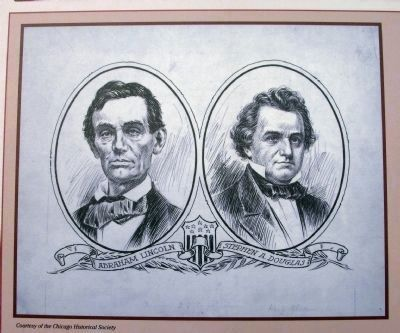 Close-up Photo - 'Lincoln & Douglas' Illustration image. Click for full size.