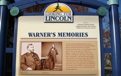 Top Section - - Warner's Memories / Marker image. Click for full size.