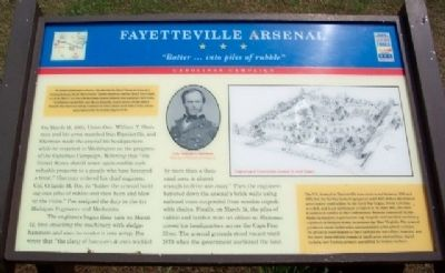 Fayetteville Arsenal Marker image. Click for full size.