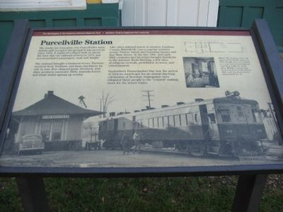 Purcellville Station Marker Photo, Click for full size