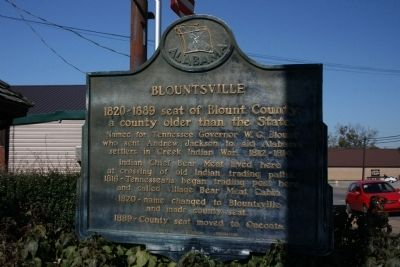 Blountsville Marker Photo, Click for full size