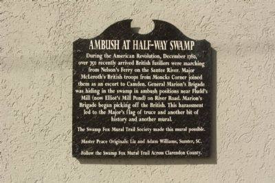 Ambush at Half-Way Swamp Marker image. Click for full size.