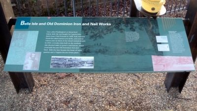 Belle Isle and Old Dominion Iron and Nail Works Marker Photo, Click for full size