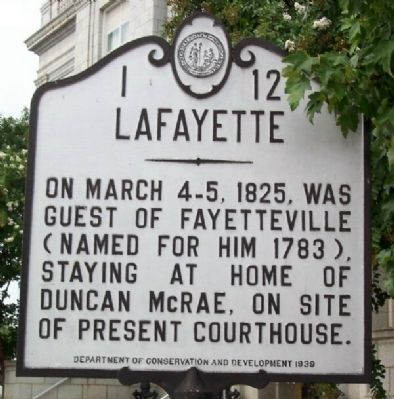 Lafayette Marker Photo, Click for full size