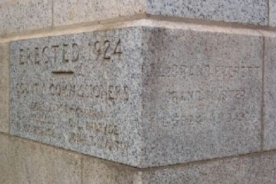 Courthouse Cornerstone Photo, Click for full size
