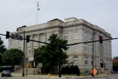 Lafayette Marker and Former Courthouse Photo, Click for full size