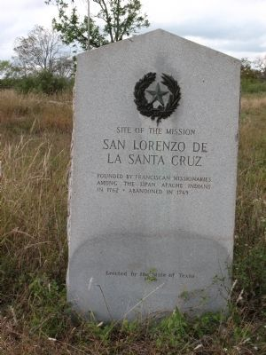 Site of the Mission San Lorenzo De La Santa Cruz Marker image. Click for full size.