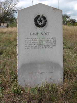 Site of Camp Wood Marker image. Click for full size.