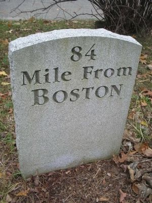 Boston Post Road Marker Photo, Click for full size