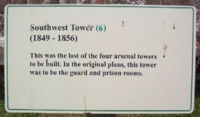 Southwest Tower (1849 - 1856) Marker image. Click for full size.