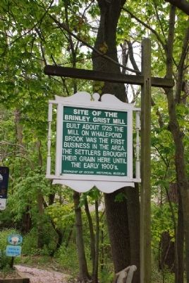 Brinley Grist Mill Marker image. Click for full size.
