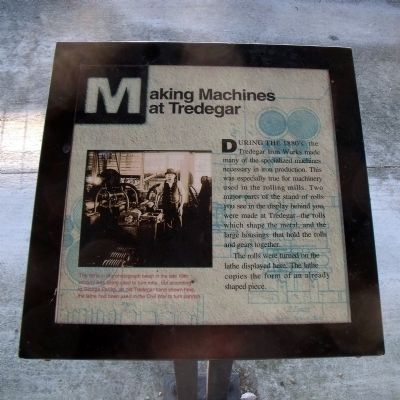 Making Machines at Tredegar Marker image. Click for full size.