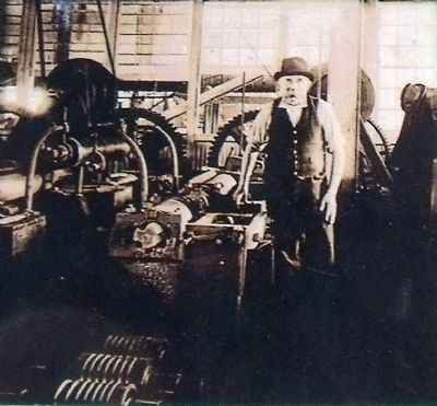 George Perrini at the lathe image. Click for full size.