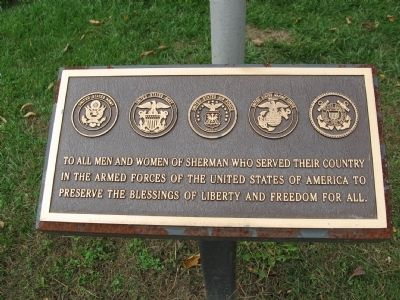 Plaque on the Flagpole image. Click for full size.