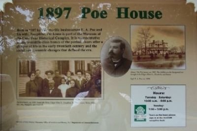 1897 Poe House Marker image. Click for full size.