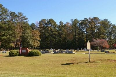 Hebron Baptist Church Marker and Cemetery image. Click for full size.