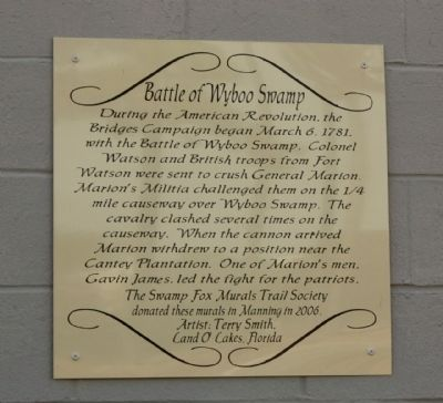 Battle of Wyboo Swamp Marker image. Click for full size.