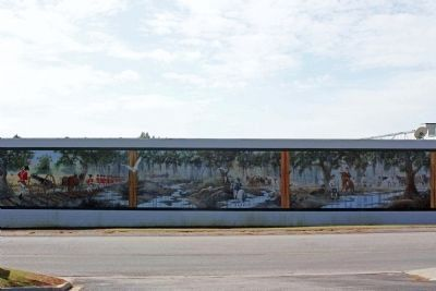 Battle of Wyboo Swamp Mural, North wall of the IGA; Artist: Terry Smith image. Click for full size.