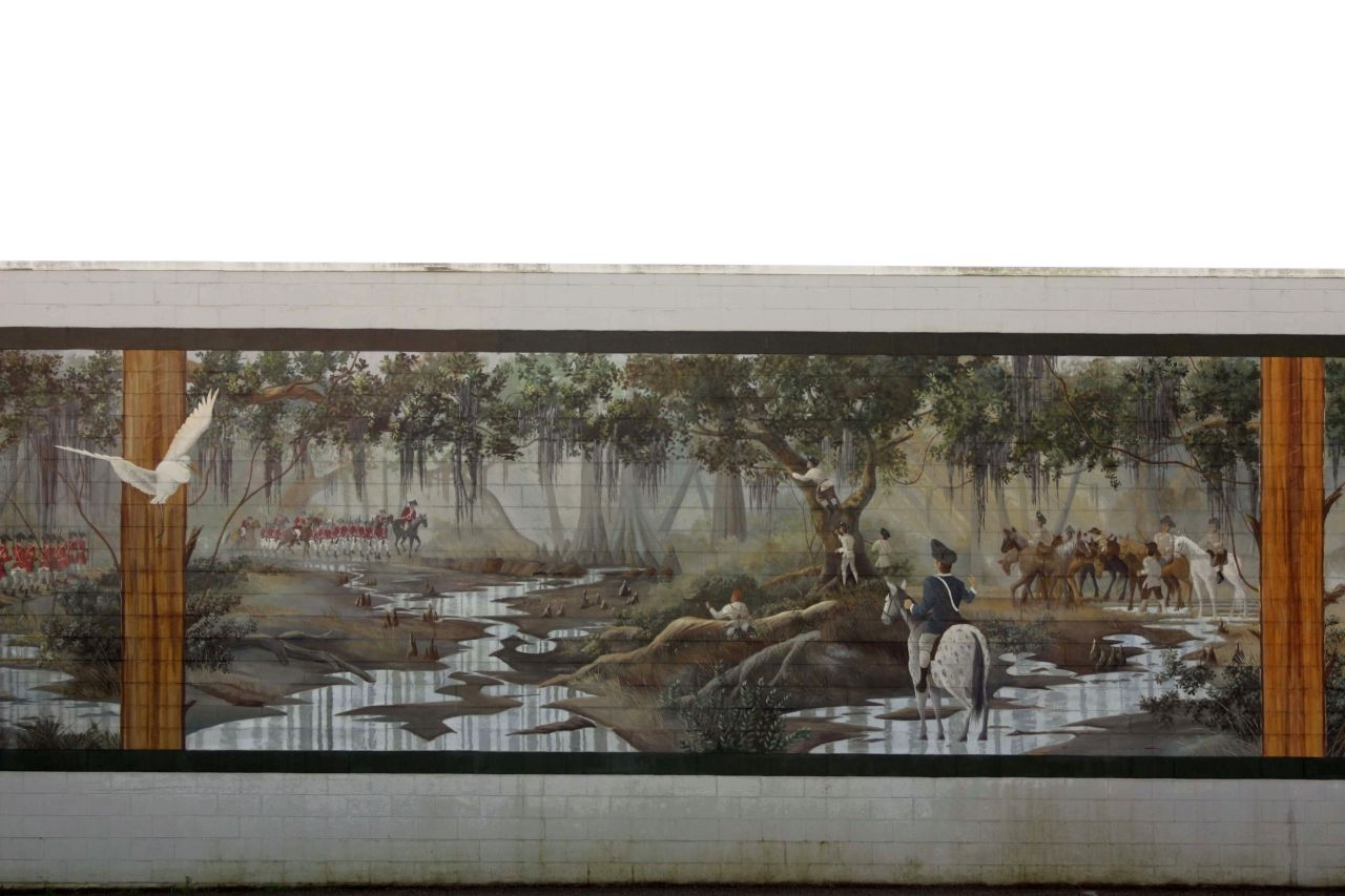 Battle of Wyboo Swamp Mural center panel