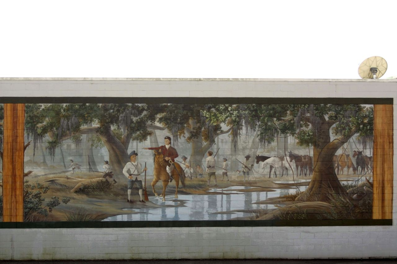 Battle of Wyboo Swamp Mural right panel