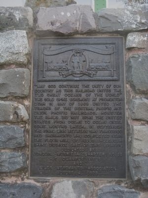 Completion of the Transcontinental Railroad Marker image. Click for full size.