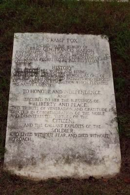 Swamp Fox Marker image. Click for full size.