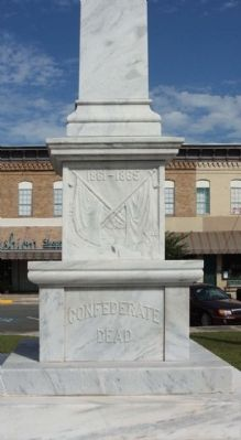 Waycross Confederate Monument , south face image. Click for full size.