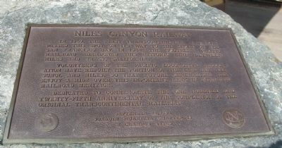 Niles Canyon Railway Marker image. Click for full size.
