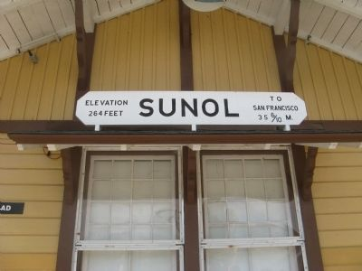 Sunol Depot Sign image. Click for full size.