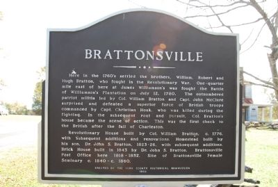 Brattonsville Marker image. Click for full size.