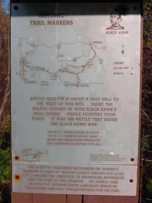 Black Hawk Historic Trail Markers image. Click for full size.