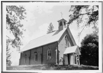 St. Patrick's - View from Northwest - Photo Courtesy of the Historic American Buildings Survey image. Click for full size.