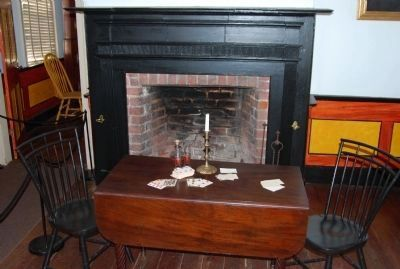 The parlor fireplace in the Homestead image. Click for full size.