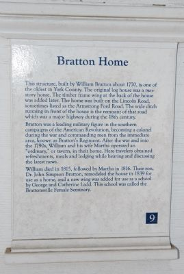 Bratton Home Marker image. Click for full size.