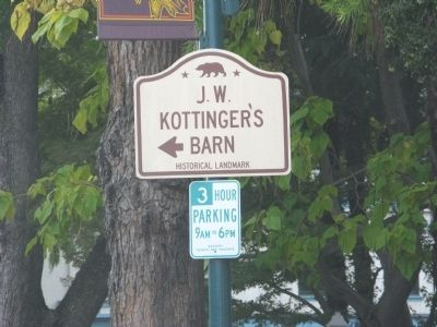 California Historical Landmark Directional Sign on Main Street. Photo, Click for full size