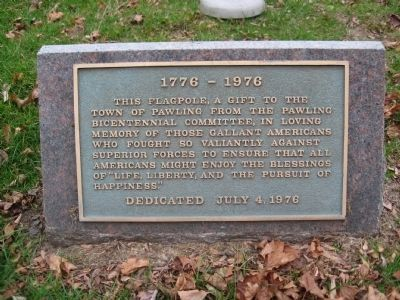 Marker by the Flagpole image. Click for full size.