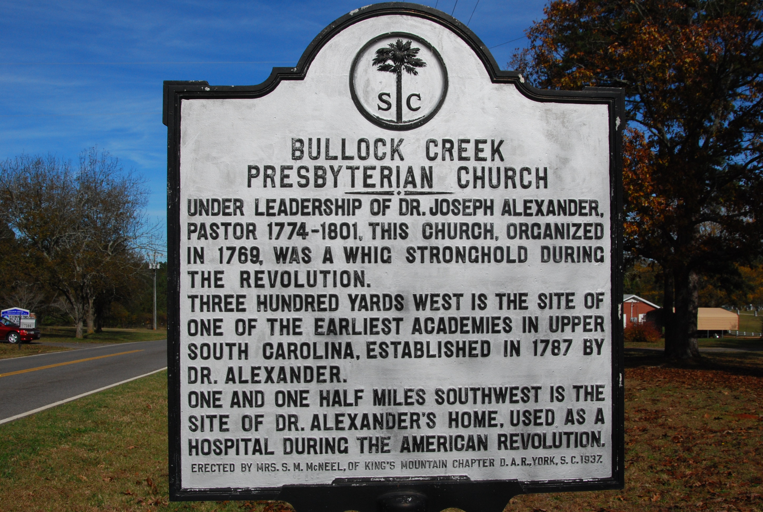 Bullock Creek Presbyterian Church Marker