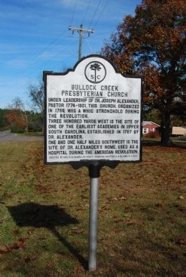 Bullock Creek Presbyterian Church Marker Photo, Click for full size