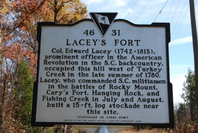 Lacey's Fort Marker image. Click for full size.